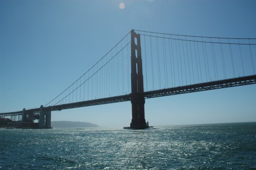 Approaching The Golden Gate Bridge by boat. San Francisco (2007)