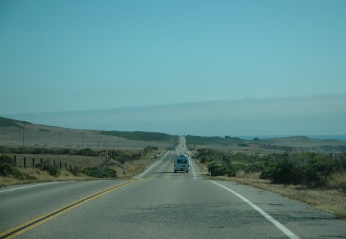 Driving along the scenic route 1 down to Los Angeles. California (2007)