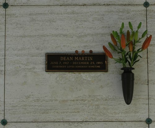 Dean Martin's resting place, I think his sidekick Jerry Lewis is still with us. Los Angeles (2007)