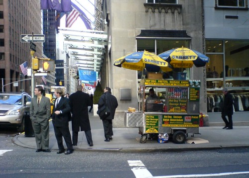One of those Hot dog stands where you can buy a 'nice' hotdog for only a dollar, New York (2006)