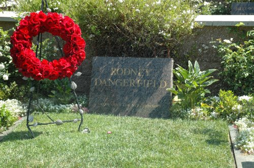 Comedian Rodney Dangerfield's resting place. I like the character he played in the movie