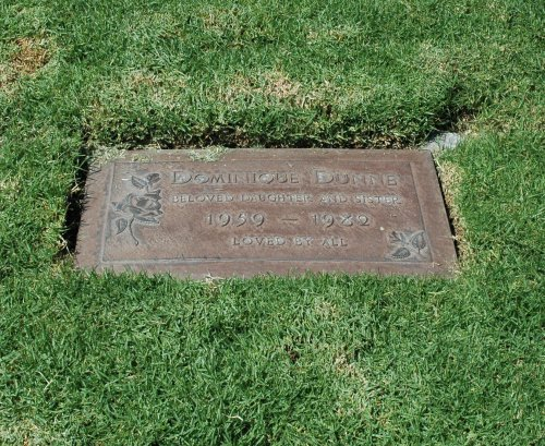 Actress Dominique Dunne's resting place, she played Heather O'Rourke's sister in the movie Poltergeist. She was murdered by her boyfriend not long after the movie was released. Los Angeles (2007)