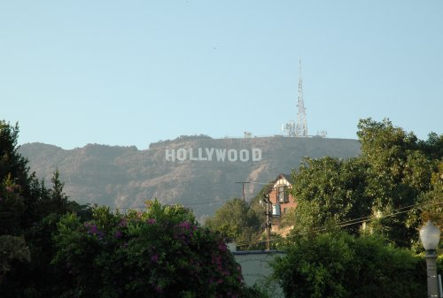 The famous Hollywood sign. It's no where near Hollywood though and we couldn't find a way of driving up to it either! Los Angeles (2007)