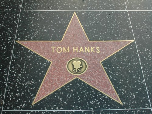 Hollywood actor Tom Hank's star on the walk of fame. Los Angeles (2007)
