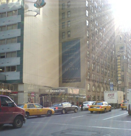 The Double Tree hotel, on midtown west of Manhattan, where I stayed in luxury, New York (2006)