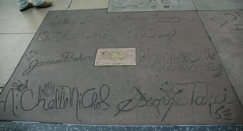 The cast of the original Star Trek TV Series have added their mark in Mann's Chinese Theatre's wet cement. Los Angeles (2007)