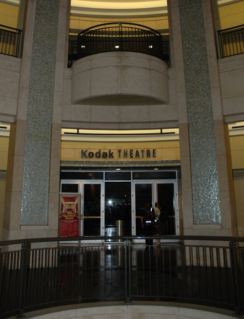 The entrance to the famous Kodac Theatre where a few movie premiers are held each year. Los Angeles (2007)