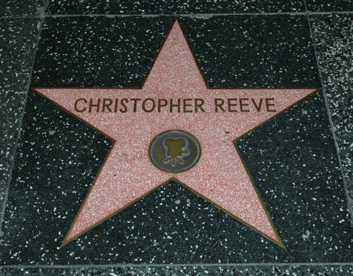 The late great Christopher Reeve's star on the walk of fame. Best Superman ever! Los Angeles (2007)
