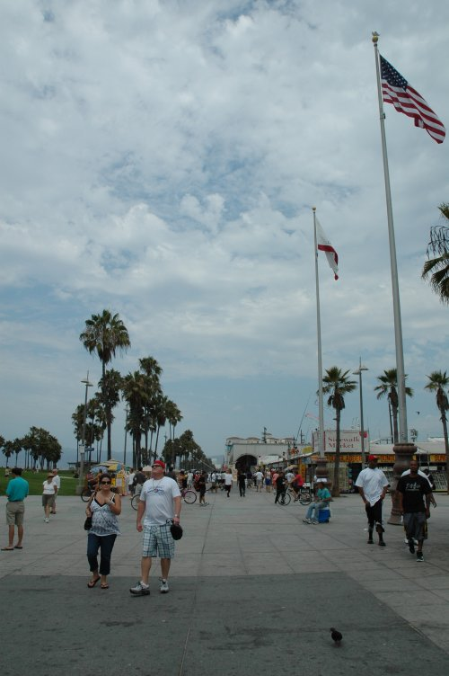 Most people wore shorts and t-shirts on Venice Beach. Los Angeles (2007)