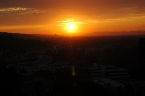 Sunset over LA, as seen from Universal Studios. Los Angeles (2007)