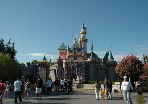A posh fairytale palace makes Disneyland magical. Los Angeles (2007)