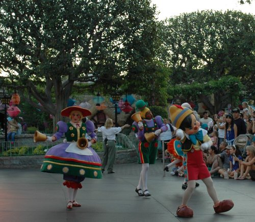 Pinocchio dances and prances for the Disneyland Parade of Dreams. Los Angeles (2007)