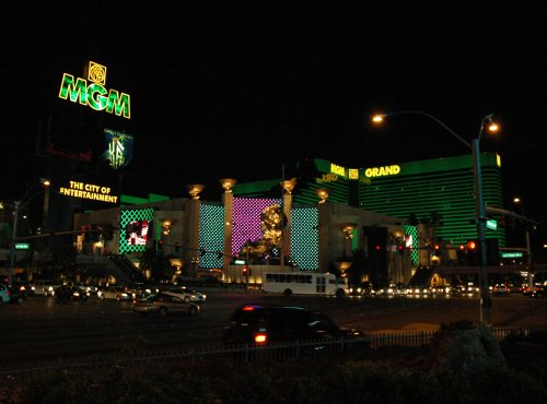 The MGM Grand where a lot of big boxing matches are held. Las Vegas (2007)