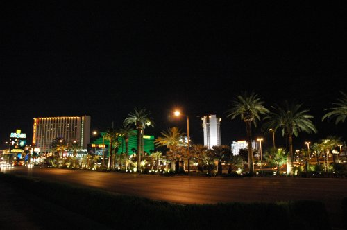 The end of the strip… our hotel was at the other end… it's about a 3 mile walk one way. Las Vegas (2007)