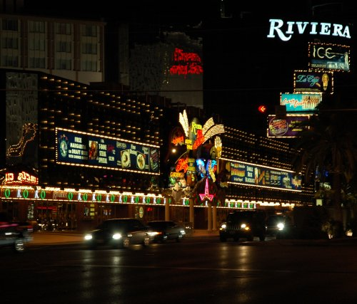 The Riviera casino and hotel, just across the road from our hotel. Las Vegas (2007)