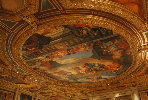 One of the pretty ceilings in the Venetian hotel and casino. Las Vegas (2007)