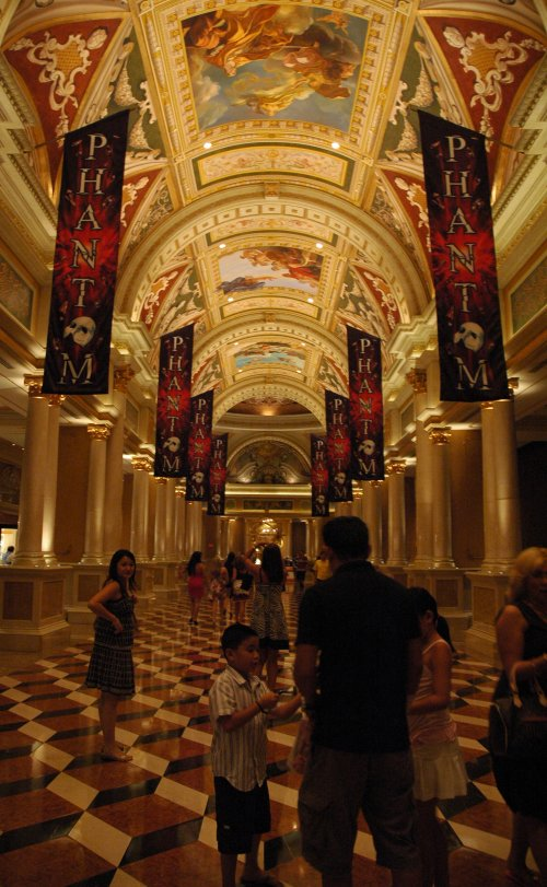 The crazy flooring inside the Venetian hotel and casino. Las Vegas (2007)