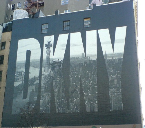 The famous DKNY mural in downtown Manhattan, New York (2006)