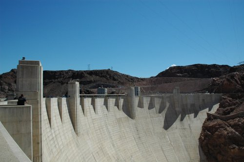 A last look at Hoover Dam before we continued our journey on to the Grand Canyon. Nevada/Arizona (2007)