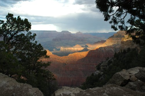 Some people climbed down sections of the Grand Canyon to find a nice quiet area to themselves. Arizona (2007)