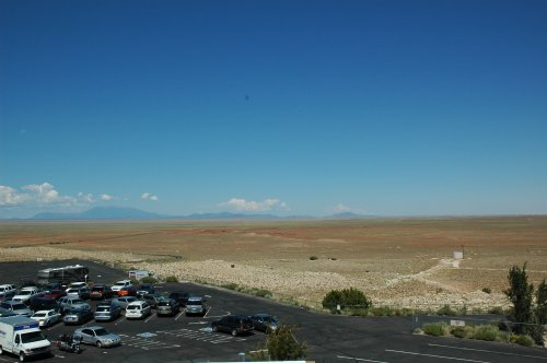 The view from the Meteor Crater, looking out on to the desert. Arizona (2007)