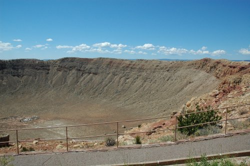 There's a path around one side of the Meteor Crater so you can have a good look around. Arizona (2007)