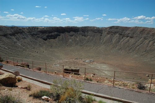 Only scientists are allowed to go down to the centre of the Meteor Crater. The Meteor Crater is privately owned. Arizona (2007)