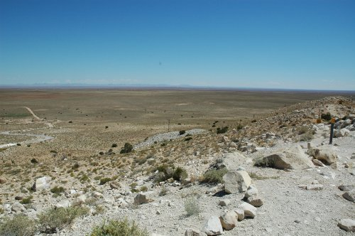Another view from the Meteor Crater out on to the desert. It is about an hours drive from the Grand Canyon. Arizona (2007)