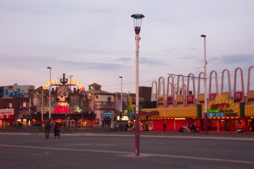 The amusement along the golden mile on a cold day in February, Blackpool (2006)