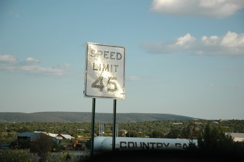 Each different US State had slightly different speed limits. Not that we paid much attention. Just like England, most people did 10-20miles over the speed limit. New Mexico (2007)