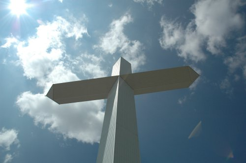 We spent about half an hour at the Cross, it was too hot to hang around. Texas (2007)