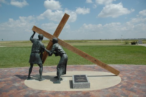 Come on guys, we got the big old Cross up ages ago and you two are still faffing around with that little cross. Texas (2007)