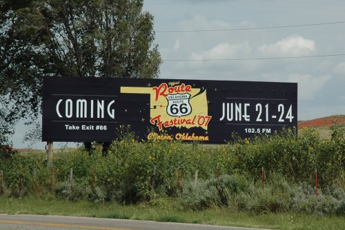 Route 66 is so famous it has it's own festival. Oklahoma (2007)