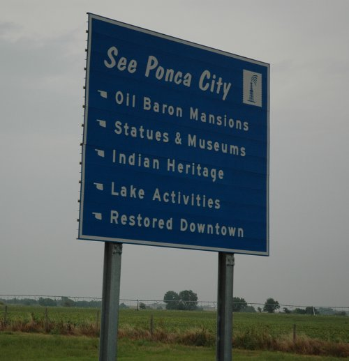 Lots to see and do in Ponca. Oklahoma (2007)