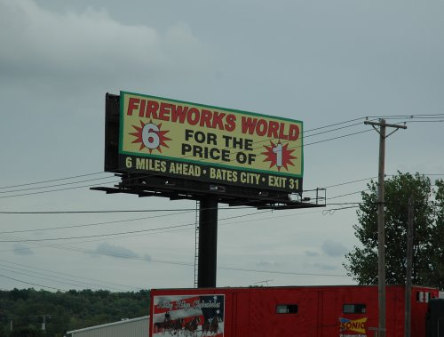 Now that's a bargain. Why didn't they just make each firework a sixth of the price? Kansas (2007)